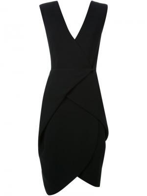 Платье без рукавов c V-образным вырезом Bianca Spender. Цвет: чёрный