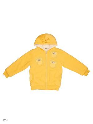 Куртка трикотажная утепленная Kidly. Цвет: желтый