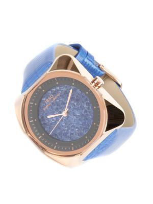 Часы на ремне IBSO. Цвет: синий, золотистый