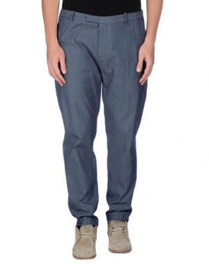 Повседневные брюки HŌSIO. Цвет: темно-синий