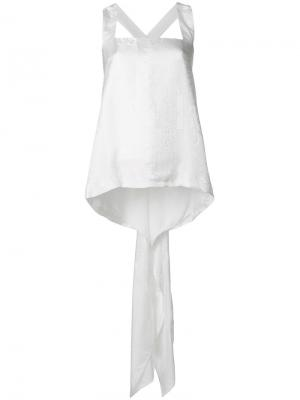 Топ с кружевным принтом и драпировкой Givenchy. Цвет: белый