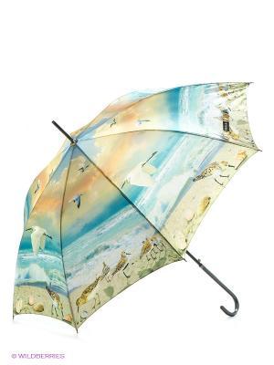 Зонт Flioraj. Цвет: голубой, бежевый