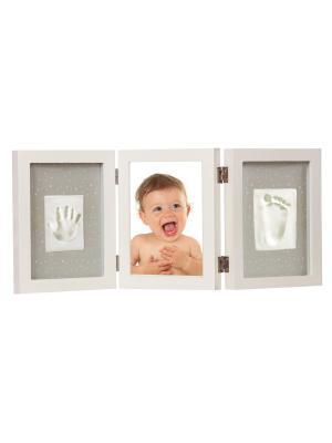 Рамка тройная для фотографии и отпечатка белая Adora. Цвет: белый