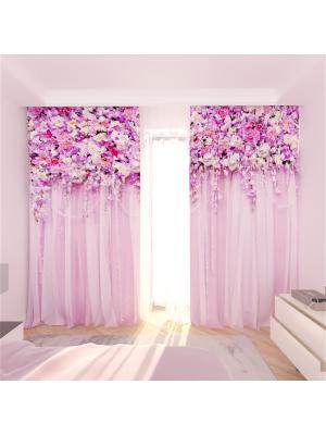 Фотошторы Олимп Текстиль. Цвет: сиреневый, бледно-розовый, кремовый