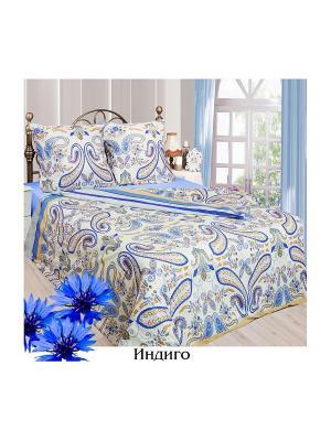 Постельное белье 1,5 сп. Sova and Javoronok. Цвет: светло-бежевый, голубой, синий