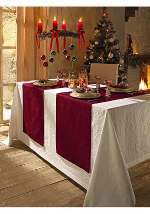 Дорожка для стола Pichler. Цвет: бирюзовый, кремовый, темно-зеленый, темно-красный