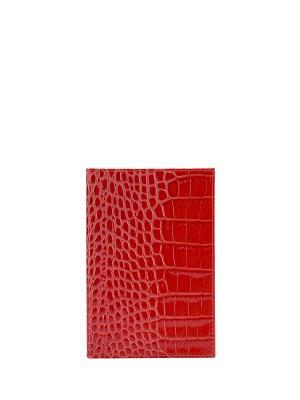 Обложка для паспорта FABULA. Цвет: красный