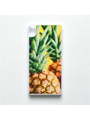 Чехол для Sony Xperia XA Ананас Boom Case. Цвет: светло-зеленый, светло-желтый