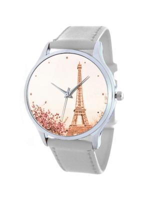 Дизайнерские часы Весенний Париж Tina Bolotina. Цвет: розовый, белый