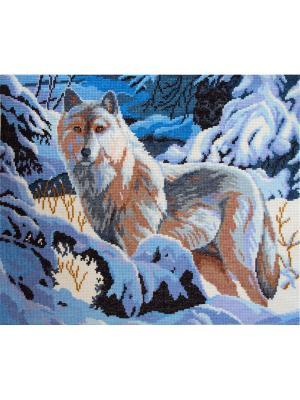 Волк набор для вышивания 37х27 см NITEX. Цвет: синий, серый