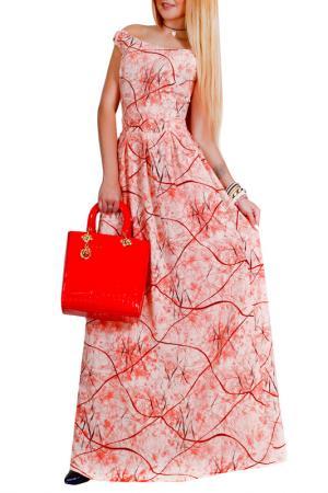Платье Patricia B.. Цвет: коралловый, бордовый