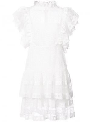 Платье Penelope Anine Bing. Цвет: белый