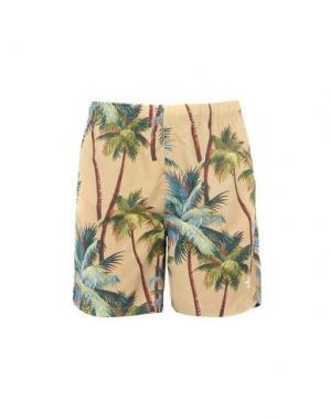 Пляжные брюки и шорты STUSSY. Цвет: песочный
