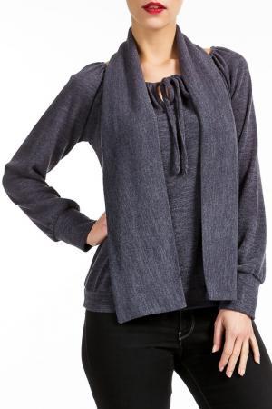 Блузка Isaco & Kawa. Цвет: серый