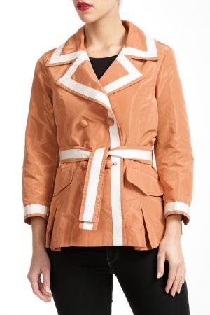 Куртка Salco. Цвет: коричневый