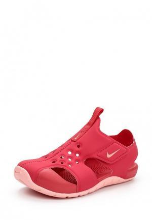 Сандалии Nike. Цвет: розовый