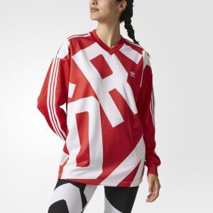 TRACK LS OVERSI  Originals adidas. Цвет: красный