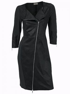 Платье-футляр MANDARIN. Цвет: черный