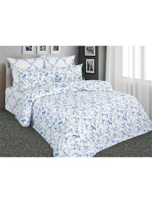Постельное белье Гжель 1,5 спальный Amore Mio. Цвет: синий, белый, голубой