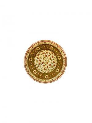 Тарелка десертная, Шахрисабс, d.20,5см Elff Ceramics. Цвет: оливковый,бежевый