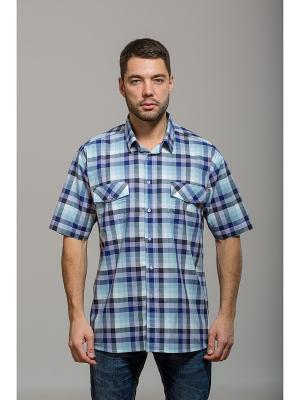 Рубашка John Jeniford. Цвет: голубой, фиолетовый, синий
