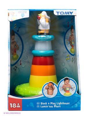 Игрушка для ванны Пирамидка-Маяк TOMY. Цвет: голубой