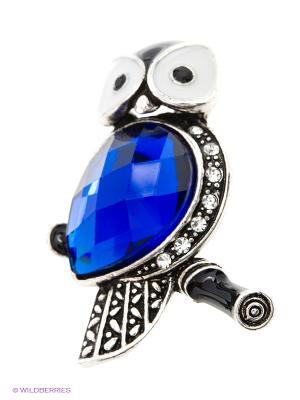 Брошь Lovely Jewelry. Цвет: серебристый, синий
