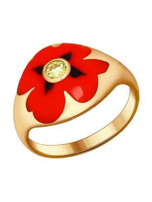 Кольцо SOKOLOV. Цвет: золотистый