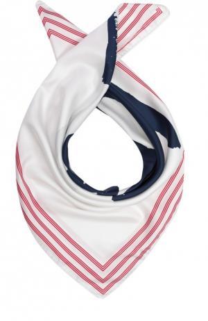 Шелковый шарф с принтом Kenzo. Цвет: белый