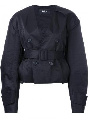 Куртка с запахом Yang Li. Цвет: чёрный