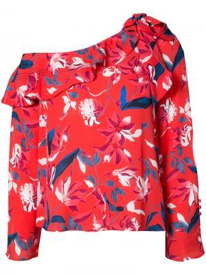 Блузка с цветочным принтом Tanya Taylor. Цвет: красный