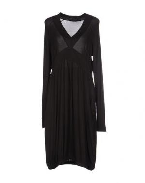 Короткое платье LA FEE MARABOUTEE. Цвет: темно-коричневый