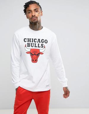 Mitchell & Ness Лонгслив NBA Chicago Bulls. Цвет: белый