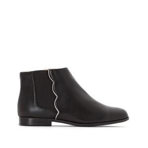 Ботинки-челси с волнистыми швами La Redoute Collections. Цвет: бордовый,темно-бежевый,черный