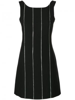 Pinstripe mini dress Arthur Arbesser. Цвет: чёрный