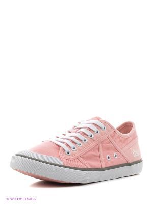 Кеды TBS. Цвет: бледно-розовый