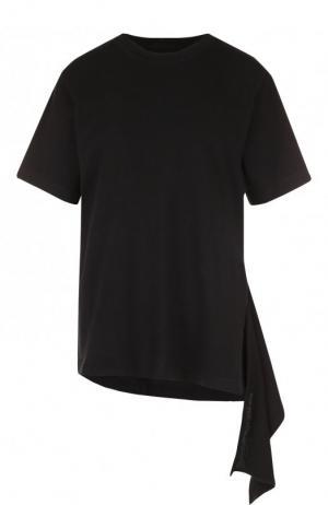 Хлопковая футболка асимметричного кроя Citizens Of Humanity. Цвет: черный