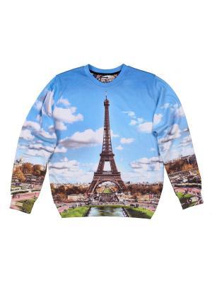 Свитшот Paris FUSION. Цвет: зеленый, белый, голубой