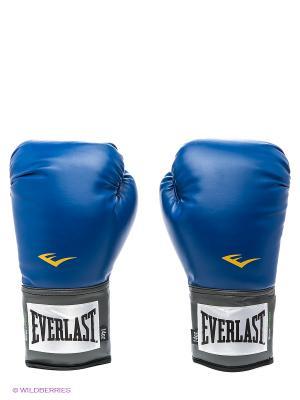 Перчатки тренировочные PU Pro Style Anti-MB Everlast. Цвет: синий