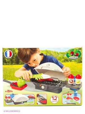 Настольный барбекю, 46,5*17,5*14см, 1/6 Ecoiffier. Цвет: серый, красный