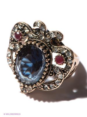 Кольцо Lovely Jewelry. Цвет: синий, золотистый