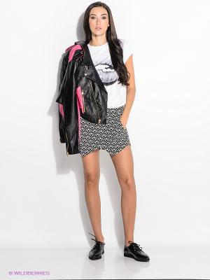 Юбка-шорты New Look. Цвет: черный, белый