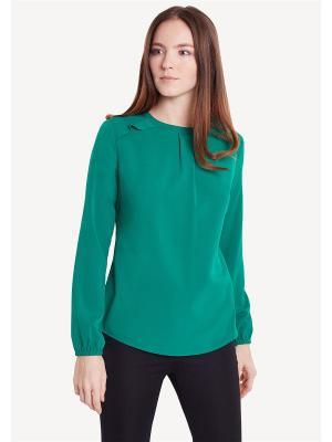 Блузка ZARINA. Цвет: зеленый