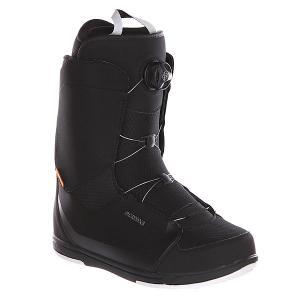 Ботинки для сноуборда  Alpha Boa Black Deeluxe. Цвет: черный