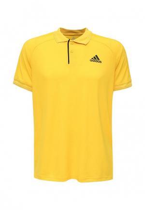 Поло adidas Performance. Цвет: желтый