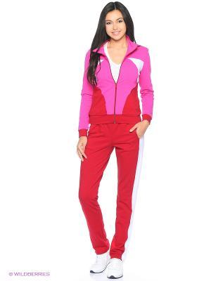 Спортивный костюм FORLIFE. Цвет: бордовый, фуксия