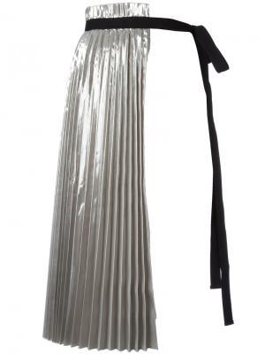 Плиссированная юбка-половинка Nº21. Цвет: металлический