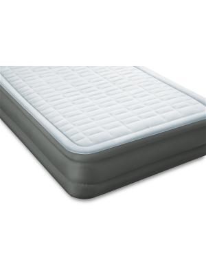 Надувной матрас-кровать твин примэйр 99х191х46 см, встр. электр. насос. Intex. Цвет: серый