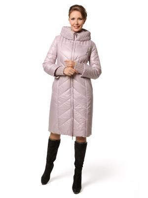 Стеганое пальто DizzyWay. Цвет: бледно-розовый