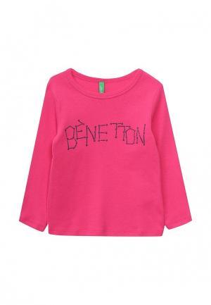 Лонгслив United Colors of Benetton. Цвет: розовый
